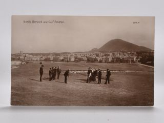 North Berwick and Golf Course. Postcard