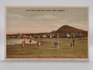 Town From West Golf Course, North Berwick. Postcard
