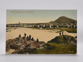 North Berwick from the Beach 18692. Postcard