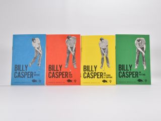 "4 booklets ""On Pitching and Chipping"",""On iron Play"",""On Putting"",""On Driving"" Billy Casper"