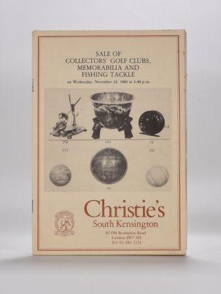 Christies Golf Memorabilia 1982. Christies