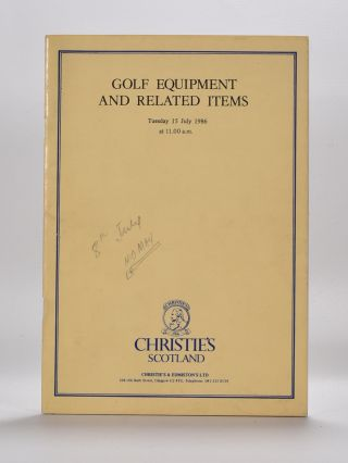 Christies Golf Memorabilia 1986. Christies