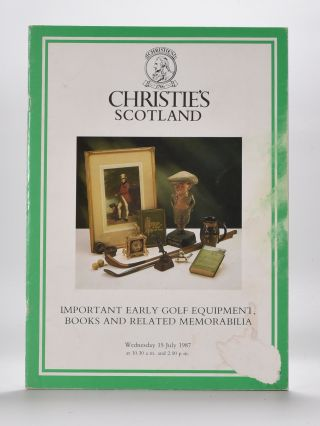 Christies Golf Memorabilia 1987. Christies