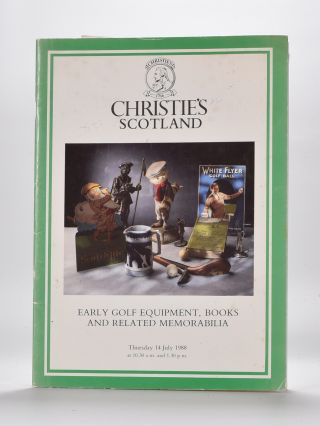 Christies Golf Memorabilia 1988. Christies
