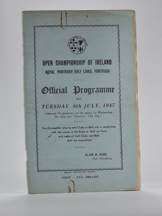 Open Championship of Ireland. Golfing Union of Ireland.