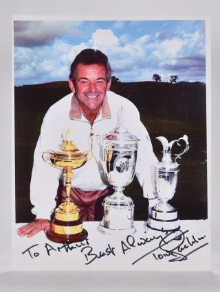 Photograph Signed. Tony Jacklin.