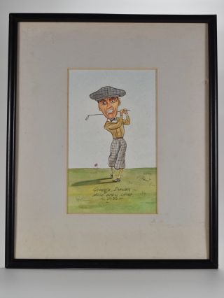 "Prominent Golfers ""George Duncan"" Original art work."