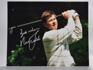 autographed photograph. Sir Nick Faldo