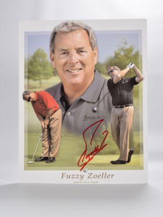 autographed photograph. Fuzzy Zoeller