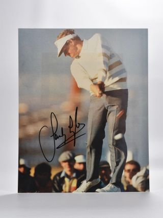 autographed photograph. Sandy Lyle