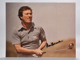 autographed photograph. Peter Thomson