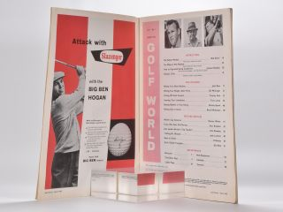Golf World Volume 1 No. 1 November 1962.