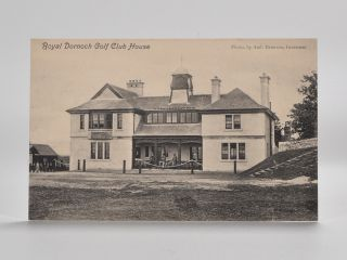 Royal Dornoch Golf Club House. Postcard.