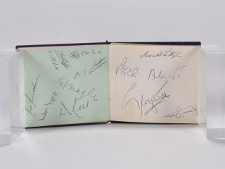 Various autographs from the 1960 Open, Palmer, Faulkner, de vicenzo, brown