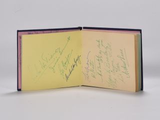 Various autographs from the 1960 Open, Palmer x2, de vicenzo, Lees