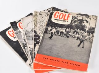 "Golf Monthly Volume 50 No. 1 January 1960 5 issues. Golf Monthly ""Magazine"""