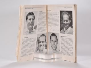 """Ryder Cup 1965 Official Programme """"fully signed by all competitor's"""""""