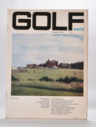 "Golf World Volume 3 No. 9 November 1964. Golf World ""Magazine"""
