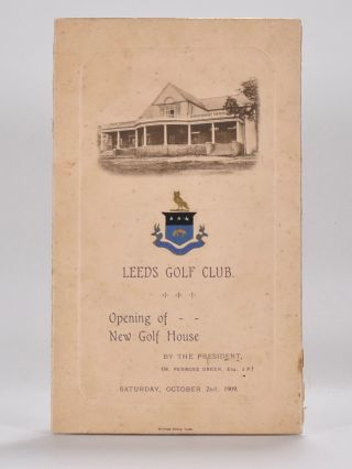 Opening of New Golf House Oct. 2nd 1909. Leeds Golf Club