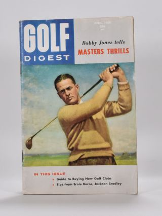 Bobby Jones cover 1960. Golf Digest.