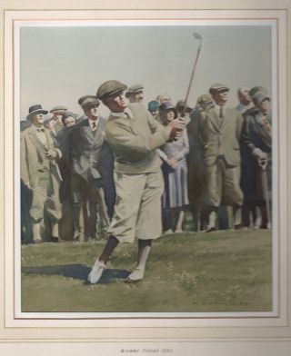 Bobby Jones 1930 (original watercolour). Peter J. Ashmore