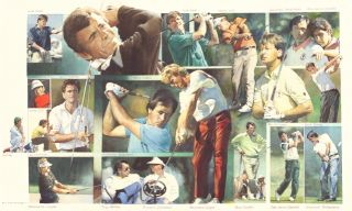 Ryder Cup Players European (original watercolour). Peter J. Ashmore