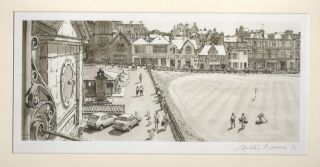 A view from the Balcony at the R&A Clubhouse in St. Andrews. Arthur Weaver, after
