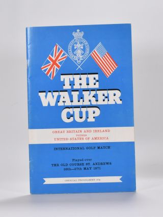 Walker Cup 1971 Official Programme. R, A