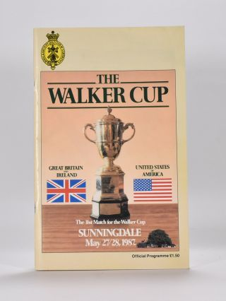 Walker Cup 1987 Official Programme. R, A