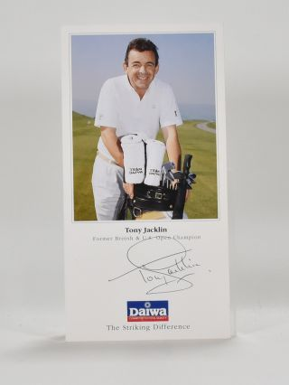 autographed photograph. Tony Jacklin