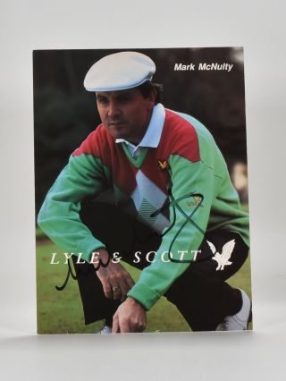 autographed photograph. Mark McNulty