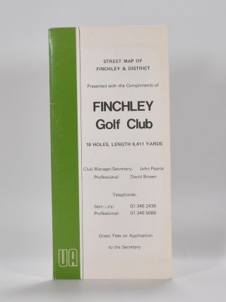 Street map of Finchley and district. Finchley Golf Club