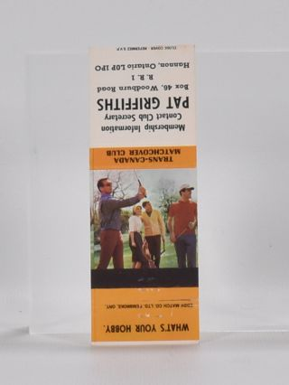 5 various book mark advertising golf