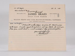 A.L.S. James Braid