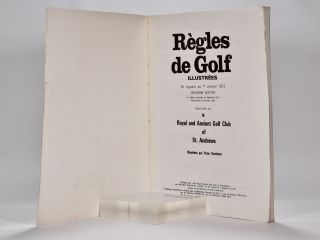 Rules of Golf / Regles de Golf Ilustrees