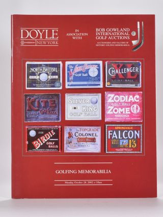 Bonhams & Doyle,s Golfing Memorabilia 2002 October 28th. Bonhams, Doyles