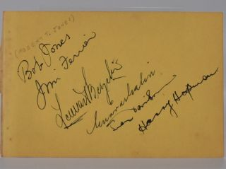 autograph's. Robert Tyre Jones, Jim Ferrier, Bobby