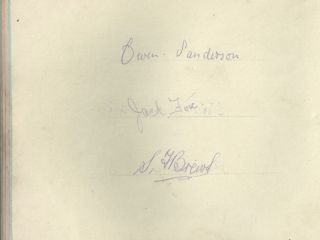 1921 Open autographs All competitors!!