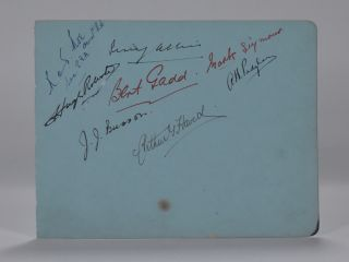 Autograph page multiple autographs. Arthur. Padgham Havers, Percy and more, Alfred. Allis.