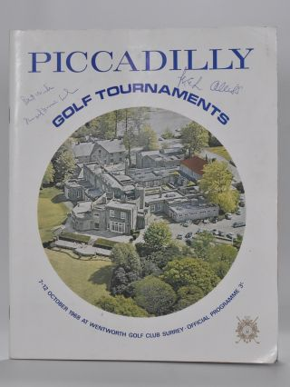 1968 Programme fully signed. Piccadilly Golf tournaments programme including The World Matchplay signed.