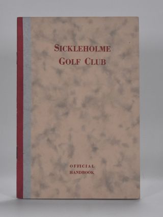 Sickleholme Golf Club. Handbook.