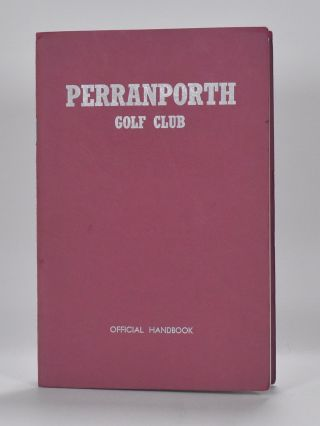 Perranporth Golf Club. Handbook, Ray Hartley