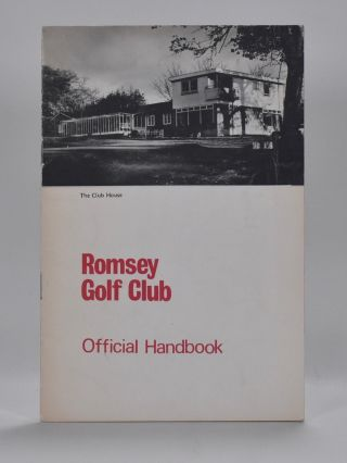 Romsey Golf Club. Handbook