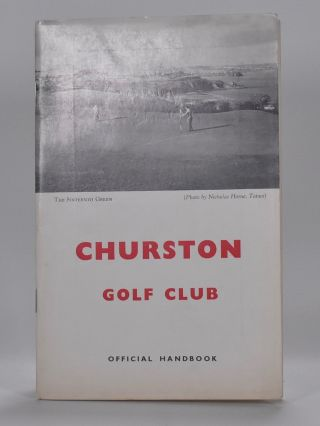 Churston Golf Club. Handbook, Robert H. K. Browning.