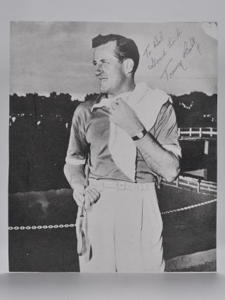 A.P. S. autographed photo signed. Tommy Bolt.