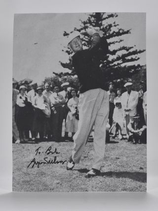 Photograph inscribed. Byron Nelson.