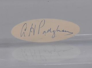 cut autograph. Alfred Harry Padgham.