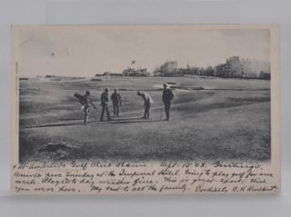 "St. Andrews ""Golf Putting"" Postcard"