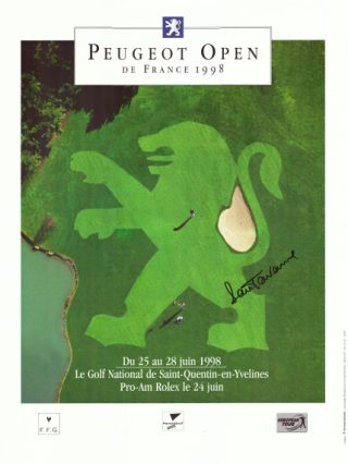 French Open 1998 by Peugot signed by winner Torrance. Poster