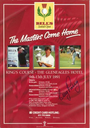 Bells Scottish Masters 1991. Poster